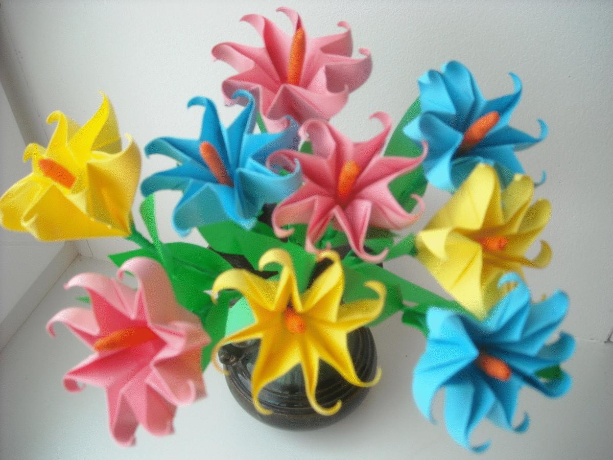 Поделки с оригами из бумаги цветы