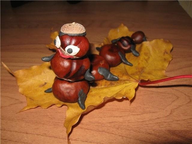 Поделки из каштана своими руками на тему осень
