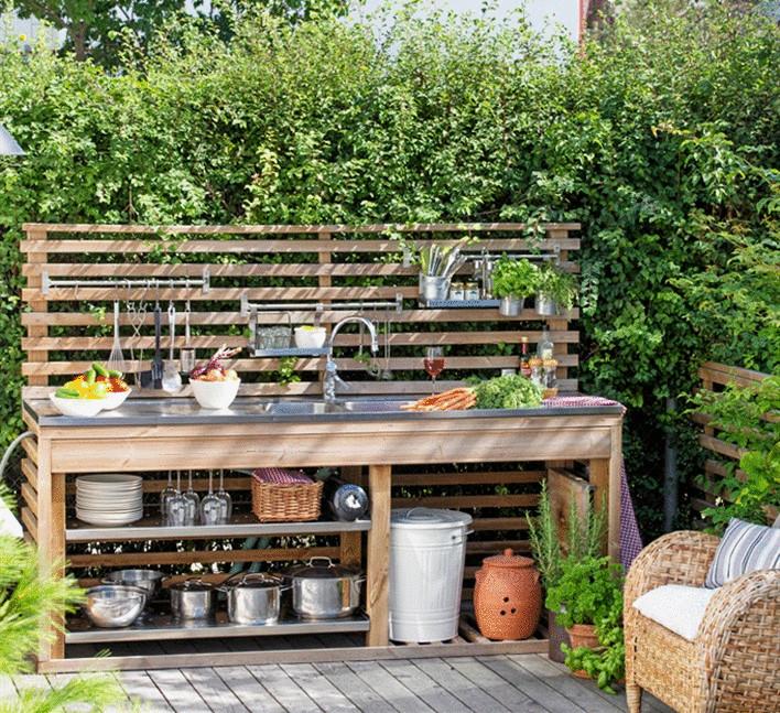 Как построить летнюю кухню своими руками на дачи