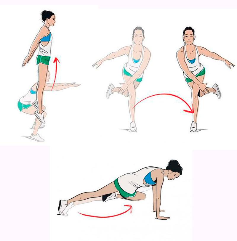 Табата упражнения для похудения комплекс