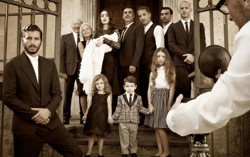 Фотосессия моя большая итальянская семья